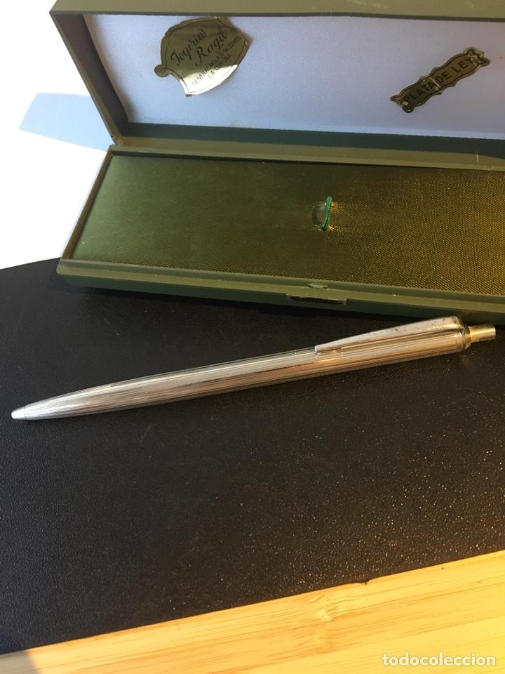 Bolígrafos antiguos: Bolígrafo de plata 900 sellado contrastado - Foto 2 - 225711037