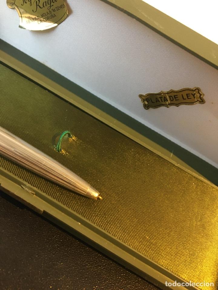 Bolígrafos antiguos: Bolígrafo de plata 900 sellado contrastado - Foto 4 - 225711037