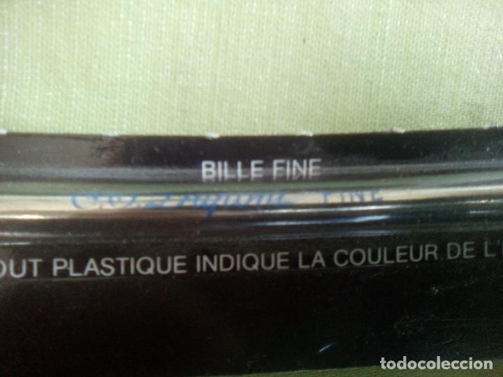 Bolígrafos antiguos: Recambio bolígrafo S.T. Dupont. Bille Fine. Azul. Años 80 - Foto 2 - 226126035