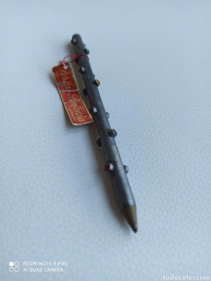 Bolígrafos antiguos: Boligrafo con cristales de colores incrustadas - Foto 3 - 229391790