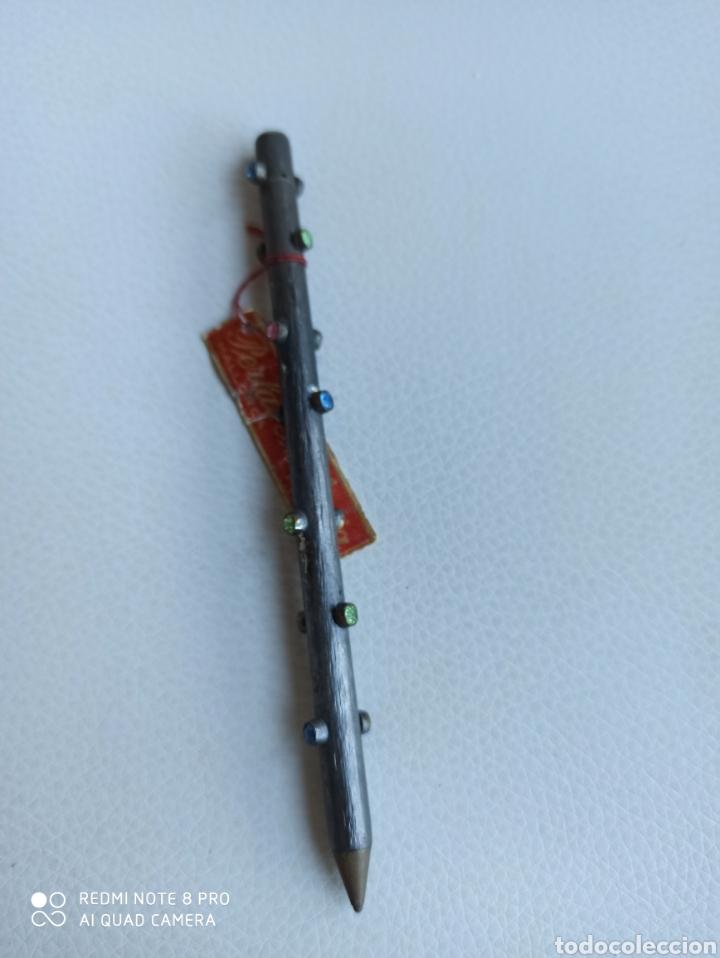 Bolígrafos antiguos: Boligrafo con cristales de colores incrustadas - Foto 4 - 229391790