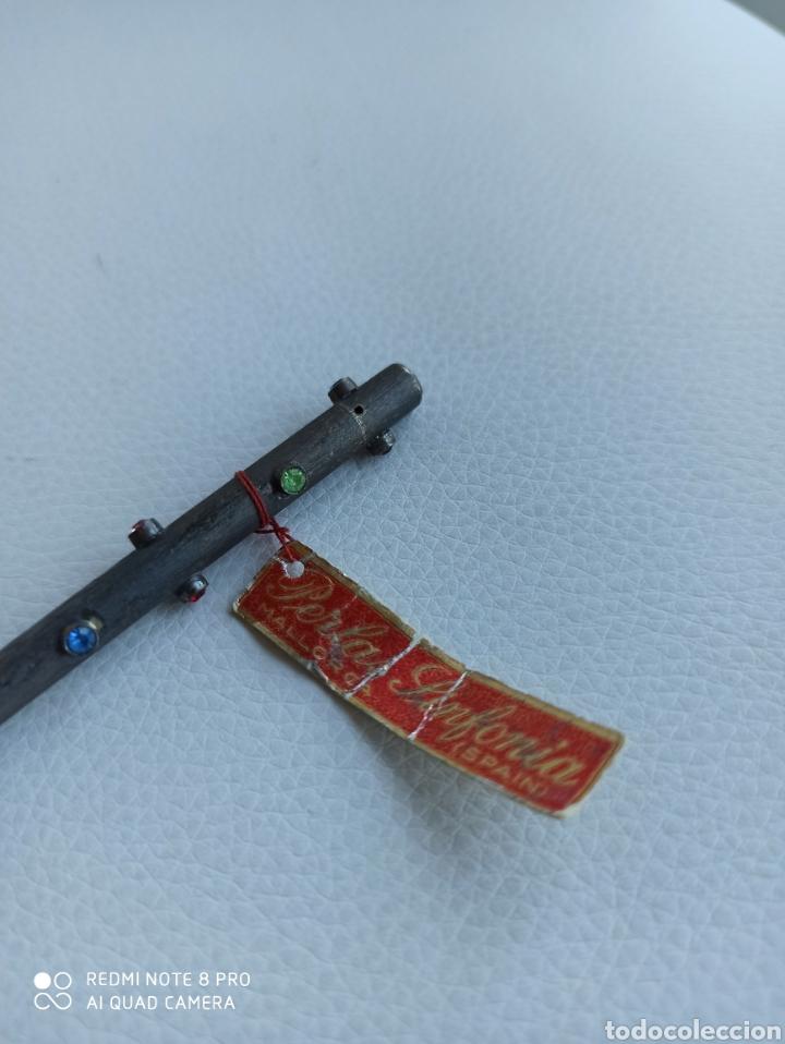 Bolígrafos antiguos: Boligrafo con cristales de colores incrustadas - Foto 5 - 229391790