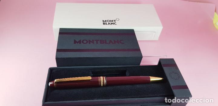 Bolígrafos antiguos: 14000/bolígrafo-montblanc 145 resina burgundy y oro-germany-excelente-Coleccionistas-ver fotos - Foto 2 - 231925685
