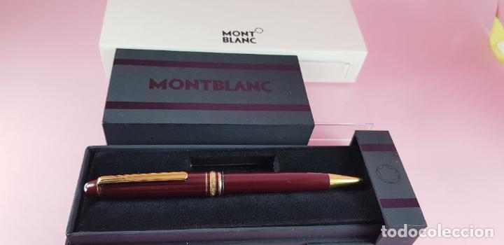 Bolígrafos antiguos: 14000/bolígrafo-montblanc 145 resina burgundy y oro-germany-excelente-Coleccionistas-ver fotos - Foto 7 - 231925685
