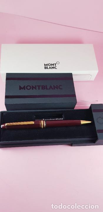 Bolígrafos antiguos: 14000/bolígrafo-montblanc 145 resina burgundy y oro-germany-excelente-Coleccionistas-ver fotos - Foto 8 - 231925685