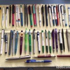 Bolígrafos antiguos: 71 BOLÍGRAFOS DE PUBLICIDAD. Lote 232791120