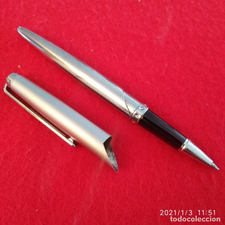 Bolígrafos antiguos: Bolígrafo Pilot, buen diseño, metálico, funciona y escribe bien. - Foto 2 - 232934370