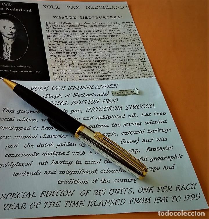 Bolígrafos antiguos: BOLIGRAFO INOXCROM SIROCCO PLATA SPECIAL EDITION VOLK VAN NEDERLANDEN - Foto 2 - 233081040