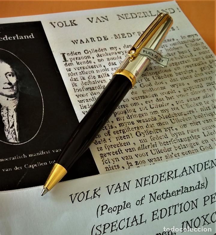 Bolígrafos antiguos: BOLIGRAFO INOXCROM SIROCCO PLATA SPECIAL EDITION VOLK VAN NEDERLANDEN - Foto 3 - 233081040