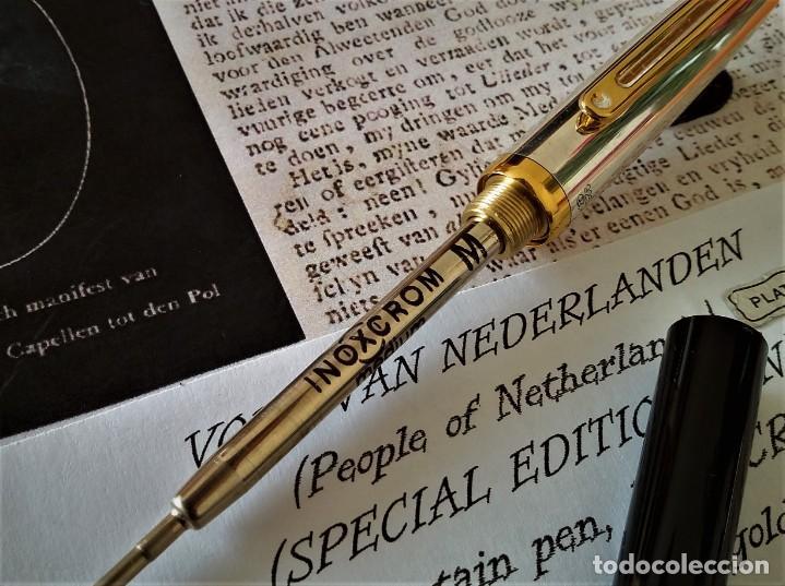 Bolígrafos antiguos: BOLIGRAFO INOXCROM SIROCCO PLATA SPECIAL EDITION VOLK VAN NEDERLANDEN - Foto 4 - 233081040