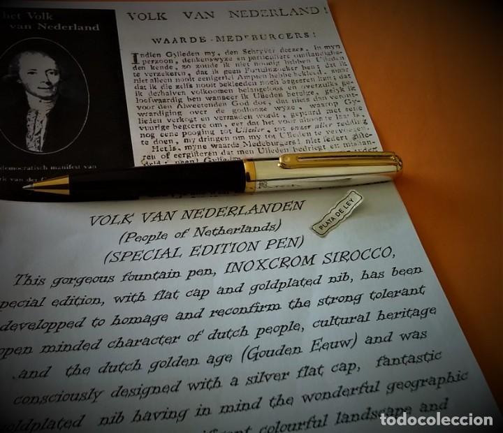 Bolígrafos antiguos: BOLIGRAFO INOXCROM SIROCCO PLATA SPECIAL EDITION VOLK VAN NEDERLANDEN - Foto 5 - 233081040