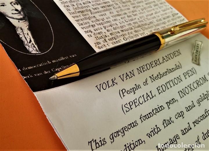 Bolígrafos antiguos: BOLIGRAFO INOXCROM SIROCCO PLATA SPECIAL EDITION VOLK VAN NEDERLANDEN - Foto 6 - 233081040