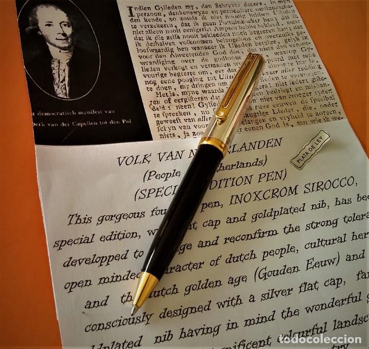 Bolígrafos antiguos: BOLIGRAFO INOXCROM SIROCCO PLATA SPECIAL EDITION VOLK VAN NEDERLANDEN - Foto 7 - 233081040