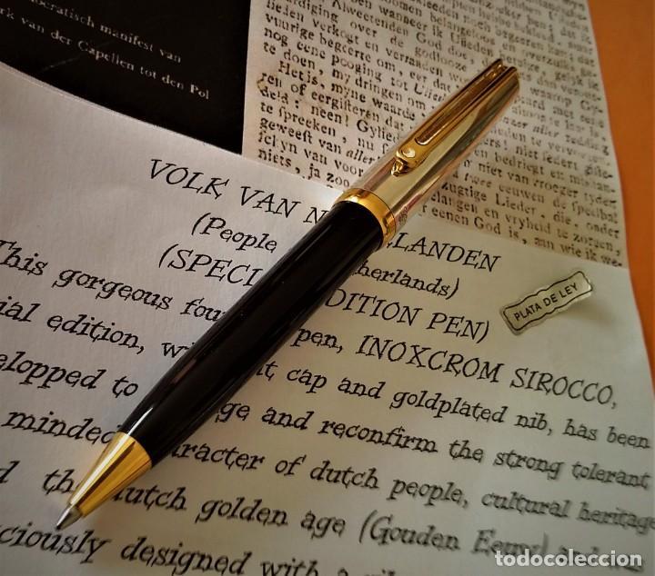 Bolígrafos antiguos: BOLIGRAFO INOXCROM SIROCCO PLATA SPECIAL EDITION VOLK VAN NEDERLANDEN - Foto 8 - 233081040