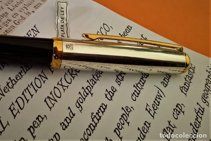 Bolígrafos antiguos: BOLIGRAFO INOXCROM SIROCCO PLATA SPECIAL EDITION VOLK VAN NEDERLANDEN - Foto 10 - 233081040