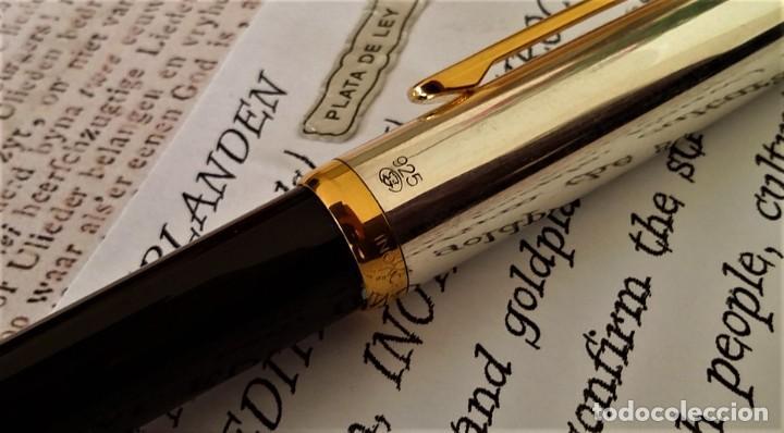 Bolígrafos antiguos: BOLIGRAFO INOXCROM SIROCCO PLATA SPECIAL EDITION VOLK VAN NEDERLANDEN - Foto 11 - 233081040