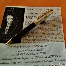 Bolígrafos antiguos: BOLIGRAFO INOXCROM SIROCCO PLATA SPECIAL EDITION VOLK VAN NEDERLANDEN. Lote 233081040