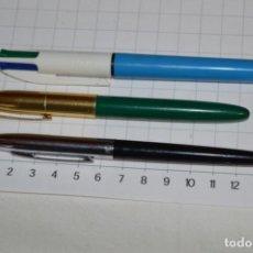 Bolígrafos antiguos: VINTAGE / ANTIGUOS - LOTE DE 3 BOLÍGRAFOS BIC - MODELOS DIFERENTES - ORIGINALES ¡MIRA!. Lote 233896265