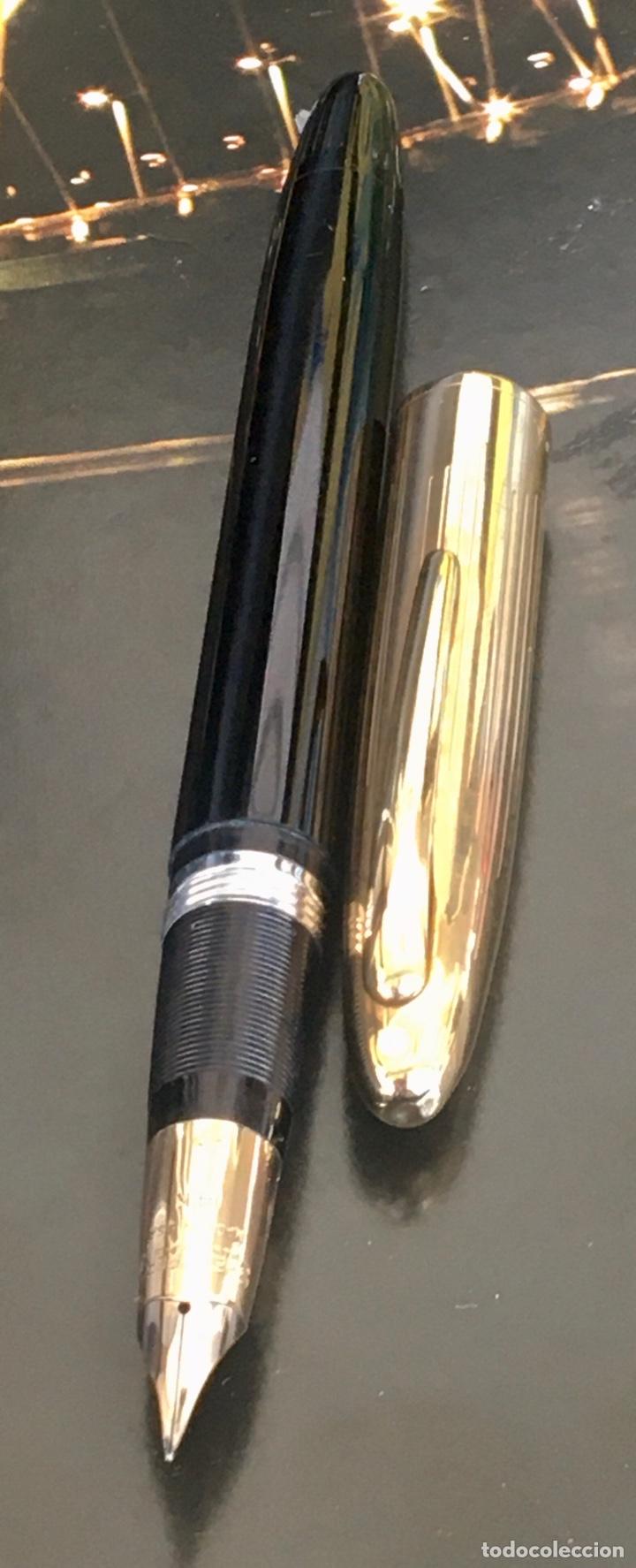 Bolígrafos antiguos: Sheaffer Snorkel Crest Lefitime 1950'S USA - Foto 3 - 234922985