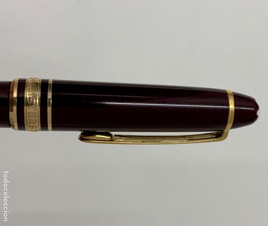 Bolígrafos antiguos: Bolígrafo Mont Blanc Meisterstück Classique burdeos. 116? - Foto 3 - 234939765