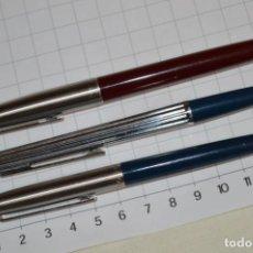 Bolígrafos antiguos: LOTE INOXCROM / 2 BOLÍGRAFOS Y 1 PLUMA - FUNCIONAN - VINTAGE - BUEN ESTADO - ¡MIRA FOTOS Y DETALLES!. Lote 235184325