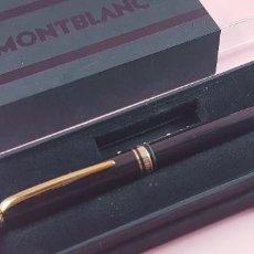 Bolígrafos antiguos: 10513·/BOLÍGRAFO-MONTBLANC GENERATION-GERMANY-NEGRO+ORO-CAJAS-EXCELENTE ESTADO-COLECCIONISTAS-. Lote 236258305
