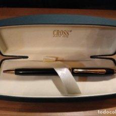 Bolígrafos antiguos: BOLÍGRAFO CROSS TOWNSEND LACA NEGRA. Lote 236259525
