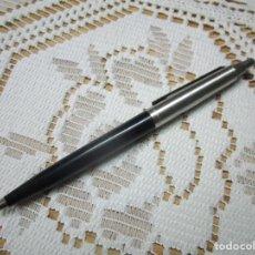 Bolígrafos antiguos: BOLIGRAFO INOXCROM ACERO Y NEGRO. Lote 238154935