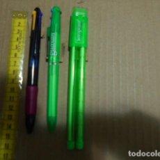 Bolígrafos antiguos: 3 BOLIGRAFOS ANTIGUOS PUBLICIDAD FARMACIA MEDICAMENTOS 2 DE 4 COLORES 1 BOLI LAPIZ CON MINAS. Lote 244417900