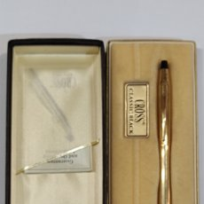 Bolígrafos antiguos: BOLÍGRAFO CROSS PLAQUÉ ORO 1/20 10KTS USA. Lote 244665310