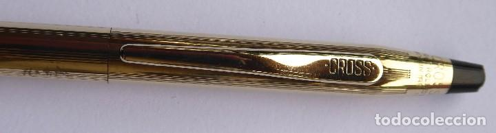 Bolígrafos antiguos: PLU-15. BOLÍGRAFO CROSS. 1/20 ROLLED GOLD 10 K. MADE IN IRELAND. CON ESTUCHE E INSTRUCCIONES. - Foto 4 - 245280895