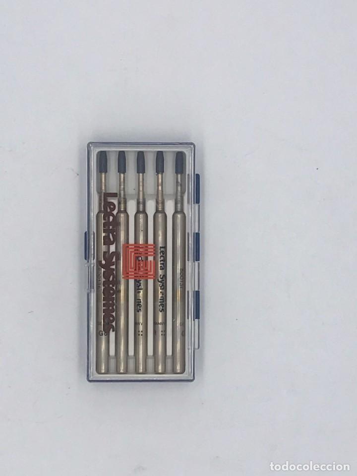 Bolígrafos antiguos: CARGAS DE BOLIGRAFOS MARCA LECTRA SYSTÉMES - Foto 3 - 246356730