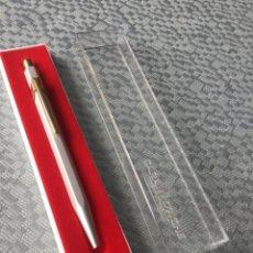 Bolígrafos antiguos: BOLÍGRAFO CARAN D'ACHE, HECHO EN SUIZA CARAN D'ACHE MODELO 858 METAL RANGE. Lote 247189185