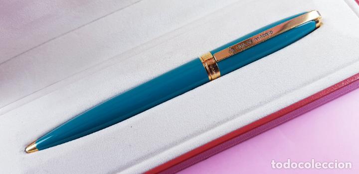 Bolígrafos antiguos: 10806·/BOLÍGRAFO-ST. DUPONT FIDELIO-FRANCIA-VERDE PASTEL-CAJA-COLECCIONISTAS-EXCELENTE - Foto 5 - 251424495