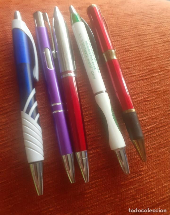 Bolígrafos antiguos: Lote de 5 boligrafos de propaganda - Foto 2 - 251479415