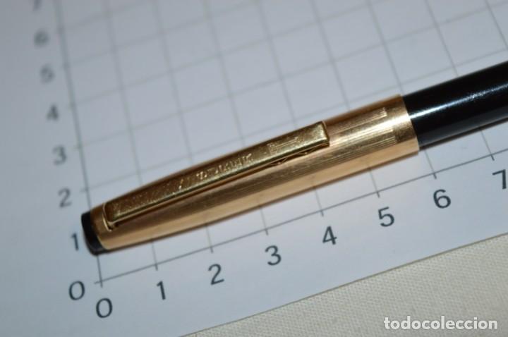 Bolígrafos antiguos: Super T / Bolígrafo plaque ORO 14 Qts - MECANISMO FUNCIONA CORRECTAMENTE - Buen estado ¡Mira fotos! - Foto 3 - 253889240