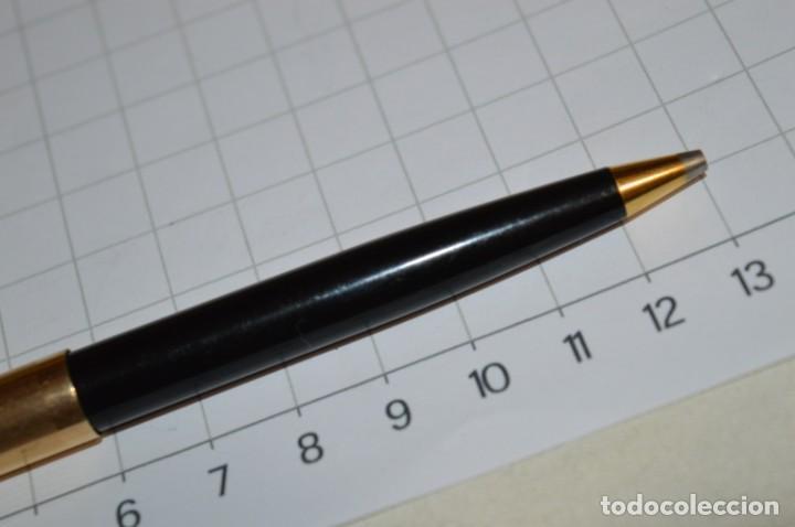 Bolígrafos antiguos: Super T / Bolígrafo plaque ORO 14 Qts - MECANISMO FUNCIONA CORRECTAMENTE - Buen estado ¡Mira fotos! - Foto 4 - 253889240