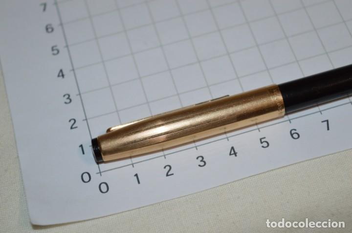 Bolígrafos antiguos: Super T / Bolígrafo plaque ORO 14 Qts - MECANISMO FUNCIONA CORRECTAMENTE - Buen estado ¡Mira fotos! - Foto 7 - 253889240
