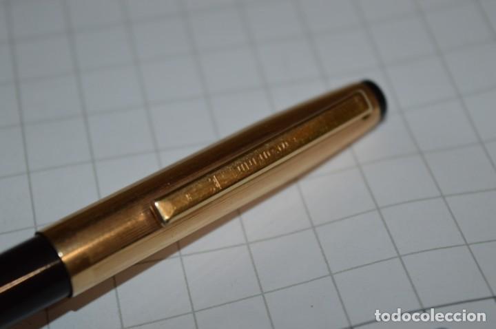 Bolígrafos antiguos: Super T / Bolígrafo plaque ORO 14 Qts - MECANISMO FUNCIONA CORRECTAMENTE - Buen estado ¡Mira fotos! - Foto 10 - 253889240