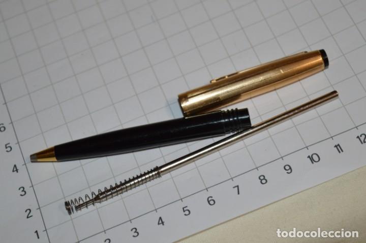 Bolígrafos antiguos: Super T / Bolígrafo plaque ORO 14 Qts - MECANISMO FUNCIONA CORRECTAMENTE - Buen estado ¡Mira fotos! - Foto 11 - 253889240