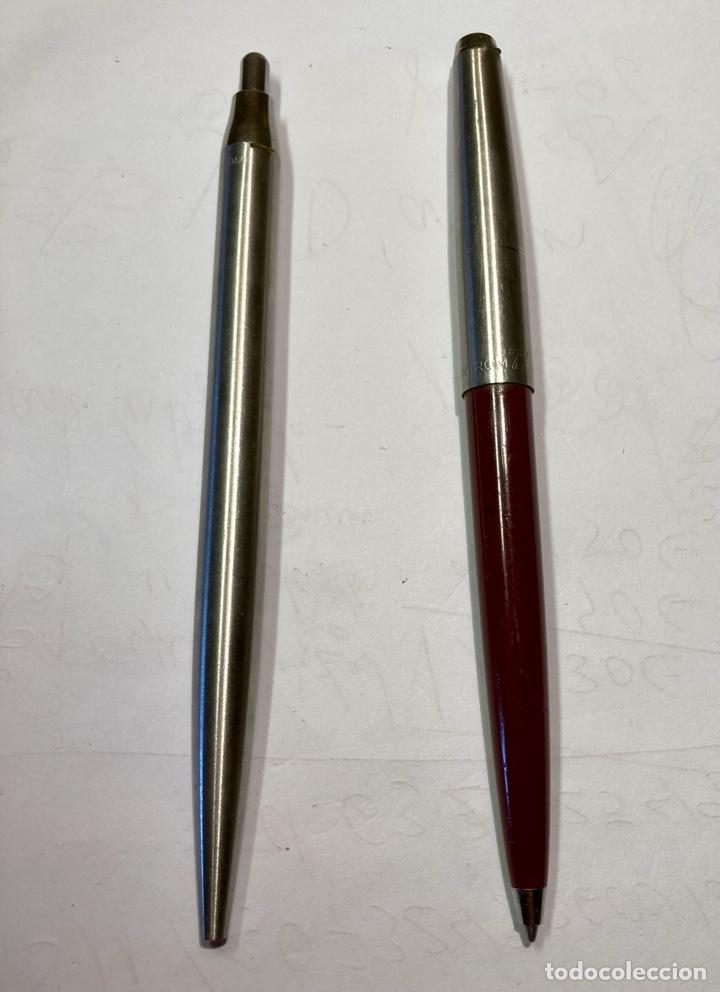 Bolígrafos antiguos: 2 bolígrafo INOXGRON, funciona perfectamente. Les falta el enganche, los dos con mina , funcionan. - Foto 2 - 254022070
