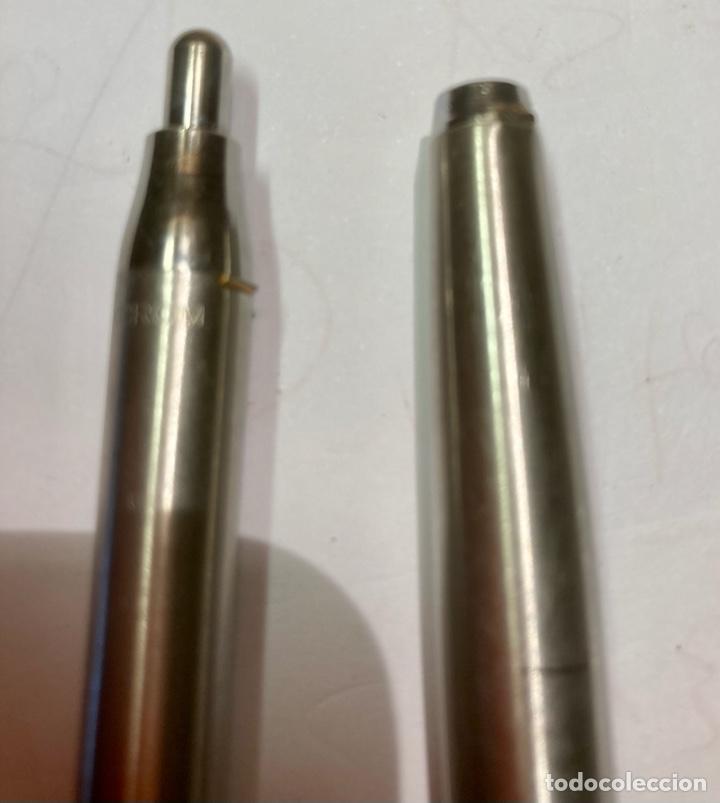Bolígrafos antiguos: 2 bolígrafo INOXGRON, funciona perfectamente. Les falta el enganche, los dos con mina , funcionan. - Foto 3 - 254022070