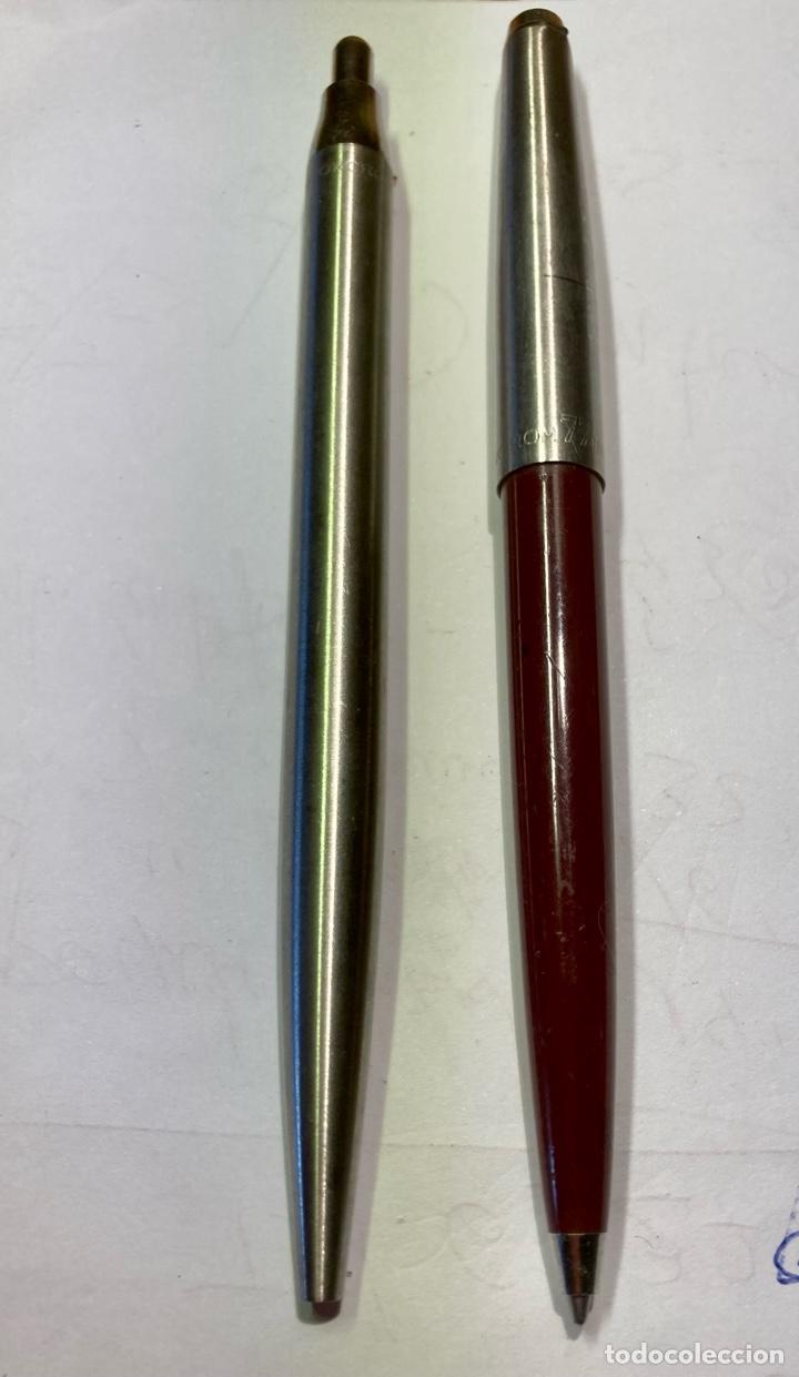 Bolígrafos antiguos: 2 bolígrafo INOXGRON, funciona perfectamente. Les falta el enganche, los dos con mina , funcionan. - Foto 4 - 254022070