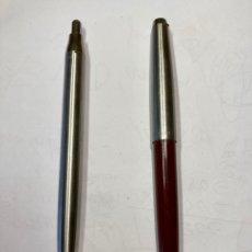 Bolígrafos antiguos: 2 BOLÍGRAFO INOXGRON, FUNCIONA PERFECTAMENTE. LES FALTA EL ENGANCHE, LOS DOS CON MINA , FUNCIONAN.. Lote 254022070