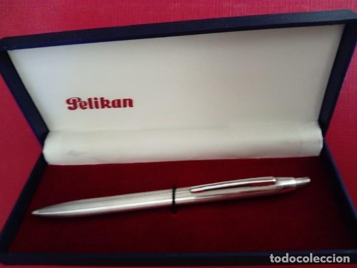 Bolígrafos antiguos: Bolígrafo Pelikan de plata - Foto 3 - 255588950