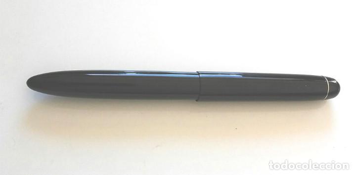 Bolígrafos antiguos: Wunder Mignom Celuloide negra, porta filtro para tinta anterior rotulador, años 30 - Foto 3 - 260868425