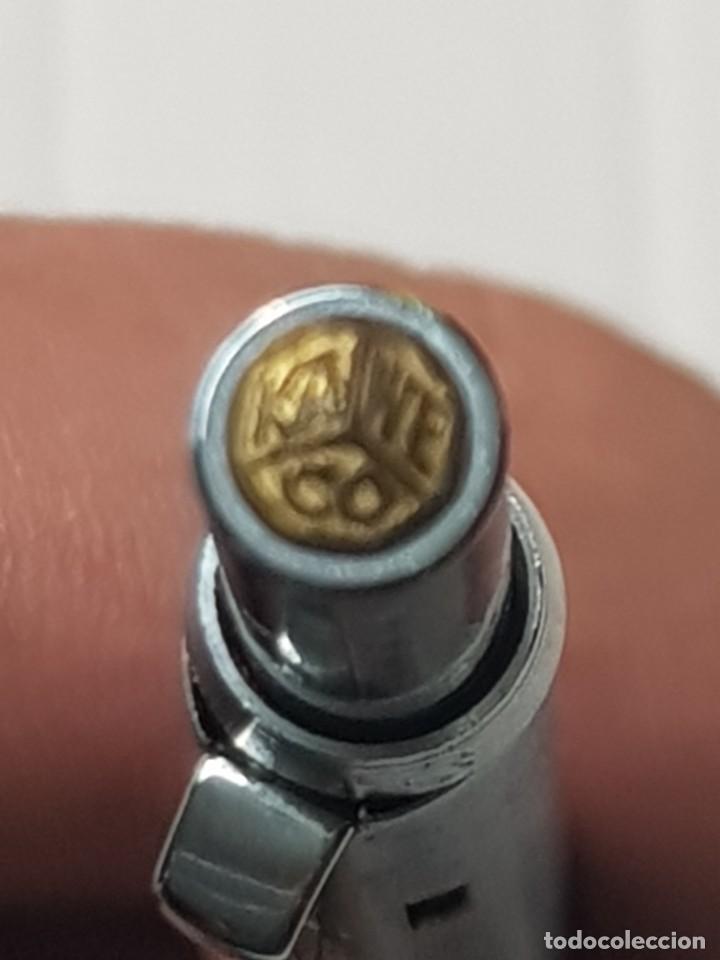 Bolígrafos antiguos: Bolígrafo 4 colores KAWECO funcionando plateado escaso - Foto 3 - 261626480