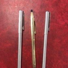 Bolígrafos antiguos: LOTE DE 3 BOLÍGRAFOS CROSS Y INOXCROM. Lote 262365165
