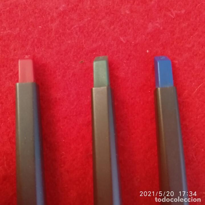 Bolígrafos antiguos: Tres bolígrafos Kaweco en su estuche original piel. Ver fotos. - Foto 2 - 264210240