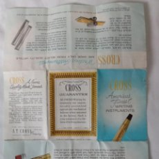 Bolígrafos antiguos: ANTIGUA GARANTIA PRODUCTO CROSS. Lote 266263898